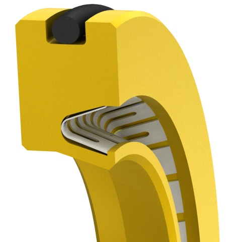 Single-Lip V-Spring-loaded rotary shaft seal for extreme environments.