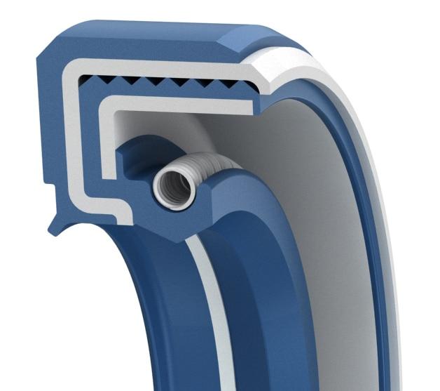 Superior medium-pressure double-lip oil seal