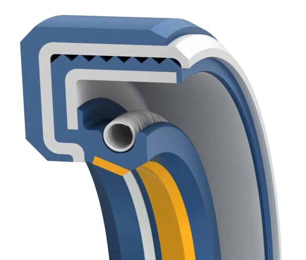 Supreme medium-pressure single-lip rotary shaft seal