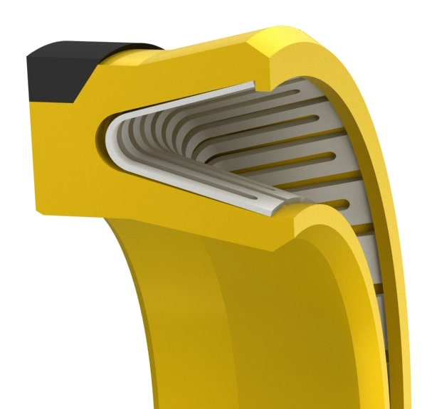 High-Pressure V-Spring Piston Seal