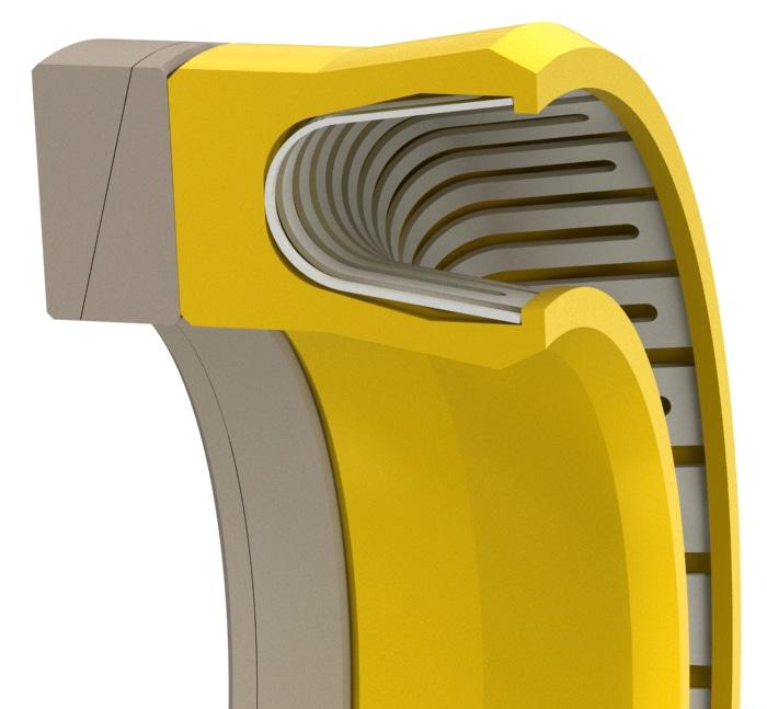 High-Pressure V-Spring Rod or Piston Seal-VS-PRS19HP2