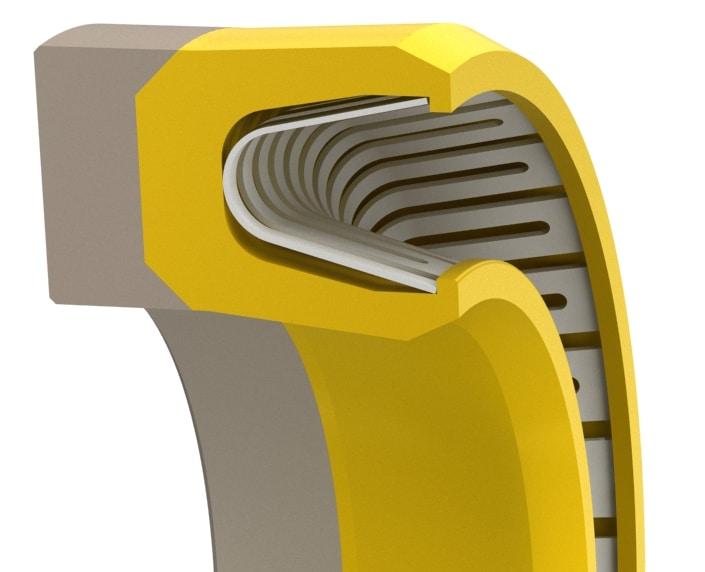 High-Pressure V-Spring Rod or Piston Seal