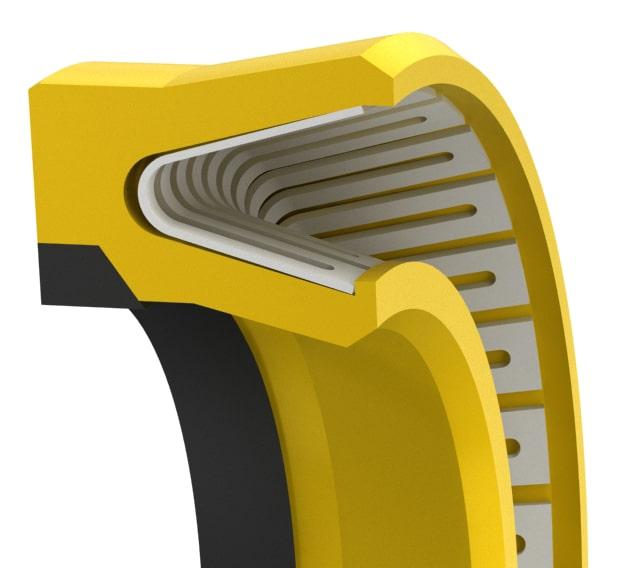 High-Pressure V-Spring Rod Seal
