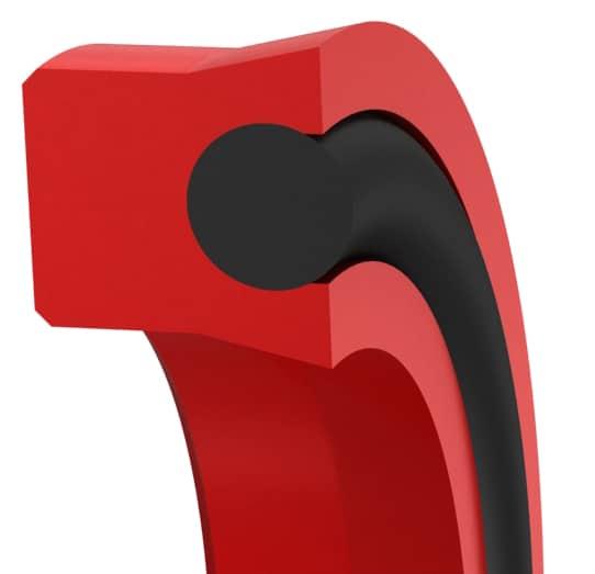 O-Ring-Loaded Symmetrical U-Cup with Scraper Lip Design