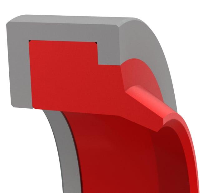 Press-In Hydraulic Rod Wiper Beveled Lip